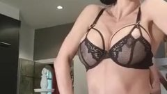 Franceska Jaimes black lingerie from IG Stories