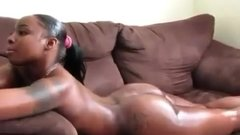 HOT Ebony smoke before sex
