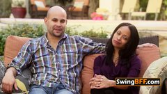 Swinger couple believes that sharing with others is caring