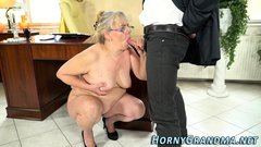 Cock stroking grandmother