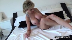 Unfaithful english milf lady sonia unveils her huge puppies3