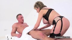 Unfaithful english milf lady sonia showcases her large titti