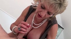 Cheating english milf lady sonia presents her enormous puppi