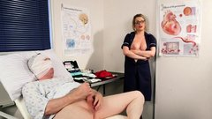 Kinky nurse mocks patient