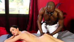 Bianca Breeze gives BBC great massage