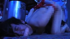 Asian fetish slut blowjob and ass enema