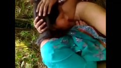 Mature Indian couple enjoying in the field