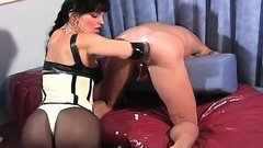 Erected rod goes right into female-dominator willing to go