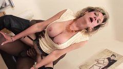 Unfaithful english milf lady sonia pops out her enormous boo
