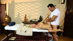 Busty inked milf fucked by horny masseur