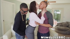 Buxom mom with big jugs blacked by two big dicked thugs