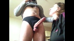 Milf sucking uncut dick