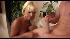 aunt dry my cock and ass