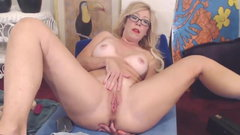 Impudent MILF squirting pussy while her husband is away