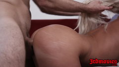 Deepthroated MILF London River pussy destroyed after yoga