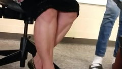 Candid teacher milf legs