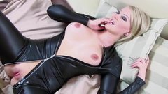 Sexy Wife Cara fucked in Leather