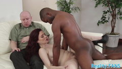 Cuckolding wife screwed by black cock