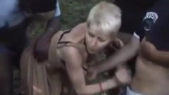Nasty French Milf  Short Hair Blonde Dogging