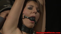 Gorgeous euro milf restrained and fucked