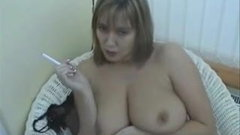Sexy smoking british milf