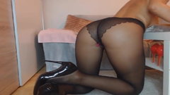 Black Pantyhose Legs And High Heels