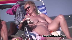Wet Shaved Pussy Nudist Naked Milfs Beach Voyeur Cam