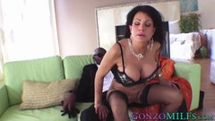 Handsome MILF with big jugs destroyed by a big black dick