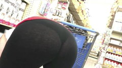 MILF Bending Over in See-through Spandex Showing THONG!