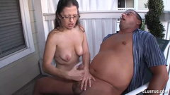 Mature Milf Offers Sensual Handjob To Her Man