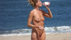 Mature Milf naked on the beach