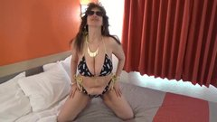 Tinja Explodes From A Pineapple Bikini