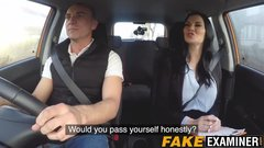 Big titted English slut fucked during her driving class