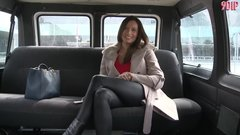 HOT BIG TITS MILF GETS FUCKED IN A VAN