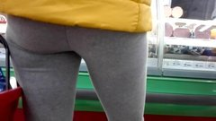 Mature milf shopping in tight yoga pants