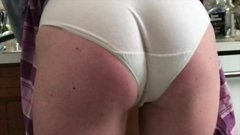 Paige in White Cotton Panties