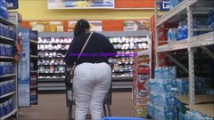 Thyck Red-Bone BBW White Pants Semi-Mega Booty 2