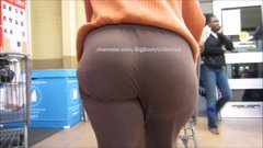 Phat Booty Brown-Pants Slim-Thyck Semi-Mature Lady