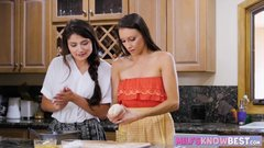 Young lesbian stepmom Celeste Star makes teen Adria Rae cum