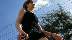 Neighborhood Creep Shots upskirt mature