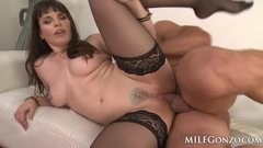 MILFGonzo Dana Dearmond squirts while being fucked