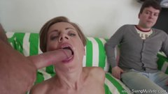Short Hair Swinger Wife Cuckold Sex
