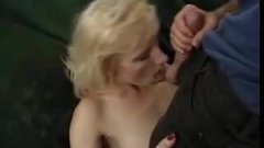 blonde mature with great natural saggy tits anally fucked