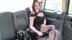 Huge boobs passenger banged by pervy driver in the taxi