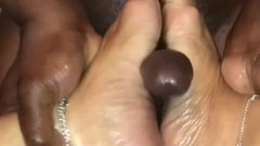 Excited MILF Explores Young BBC Foot fetishAllows ejaculatr on Pretty Feet