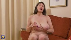 British housewife Tigger with big natural tits