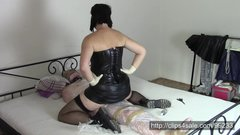 Gothic wife in surgical gloves (Part 2: Ride on mummy penis)
