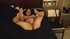 horny MILF plays her hot beautiful pussy