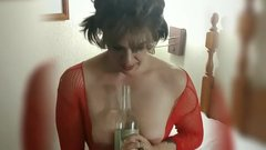 Big Clit with Wine Bottle (teaser)