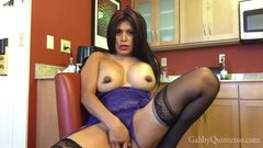 Sexy Kitchen Strip Tease From Scorching Hot MexiMILF Gabby Quinteros!